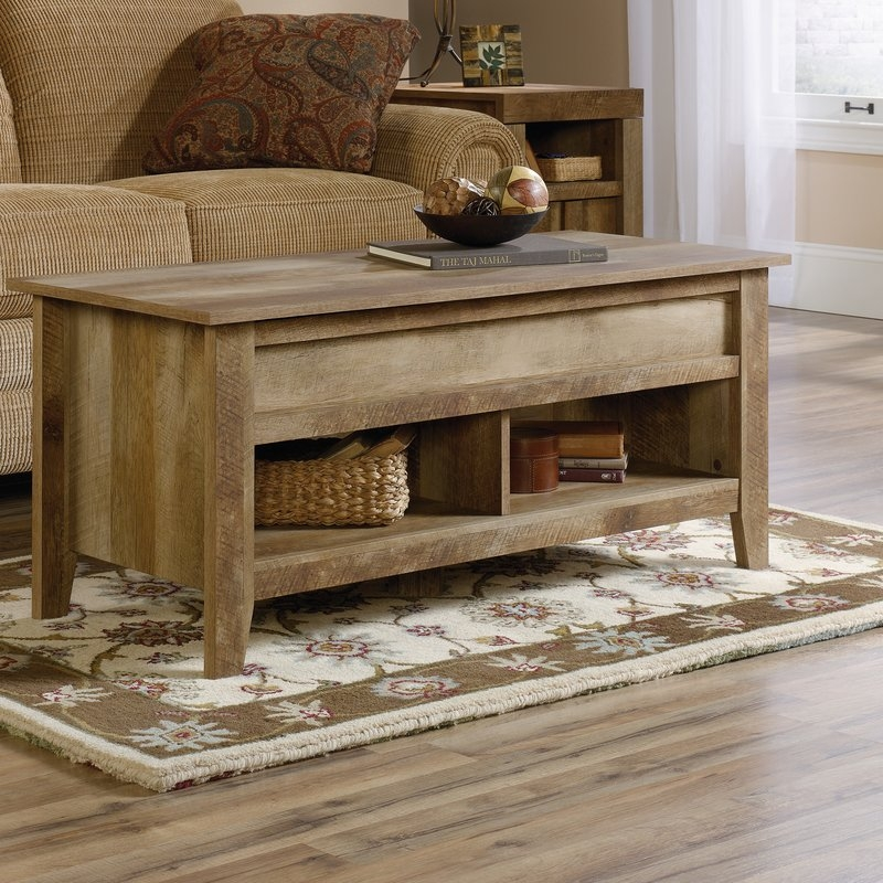 Impressive Widely Used Lift Top Oak Coffee Tables Intended For Loon Peak Signal Mountain Coffee Table With Lift Top Reviews (Image 22 of 40)