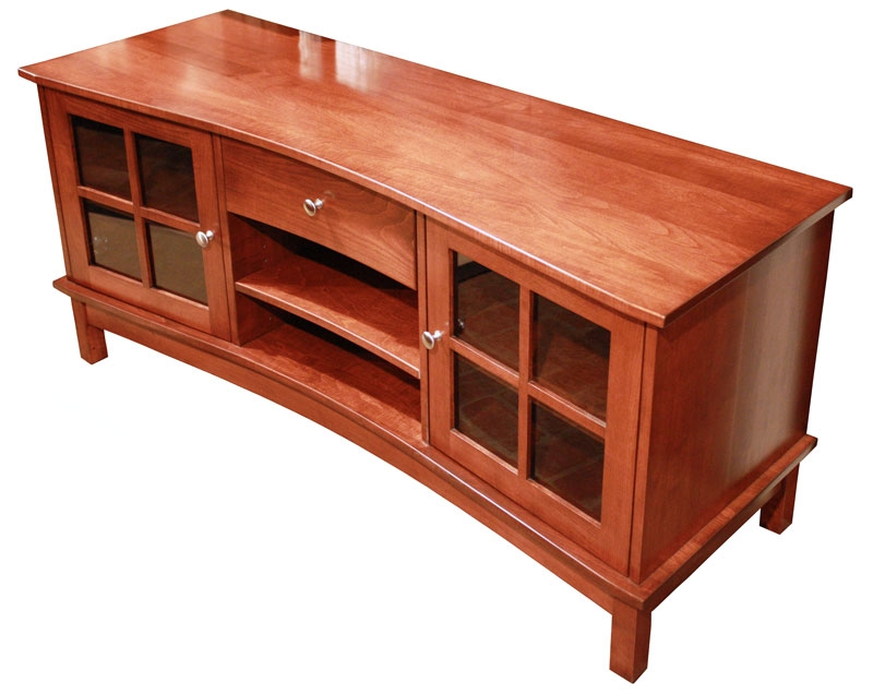 Impressive Widely Used Maple Wood TV Stands Throughout Concave Tv Stand Ohio Hardword Upholstered Furniture (View 16 of 50)