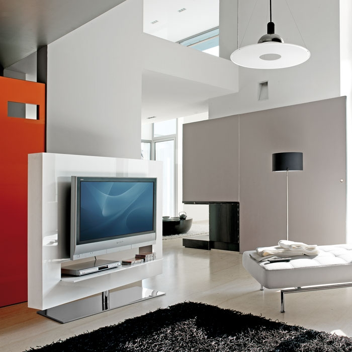 Impressive Widely Used Panorama TV Stands Within Bonaldo Panorama 140 Light Swivel Tv Stand Panik Design (View 14 of 50)