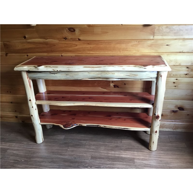 Impressive Widely Used Rustic Red TV Stands Pertaining To Tv Stand Console Table (Image 25 of 50)