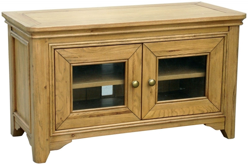 Impressive Widely Used Small Oak TV Cabinets Pertaining To Tv Hifi Cabinets Furniture Traders Of Thirsk (View 35 of 50)