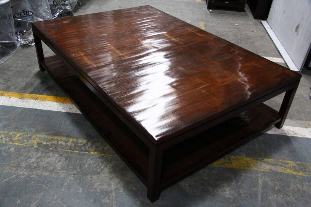Impressive Widely Used Square Dark Wood Coffee Table Within Square Dark Wood Coffee Table Coffee Tables Thippo (Image 28 of 40)