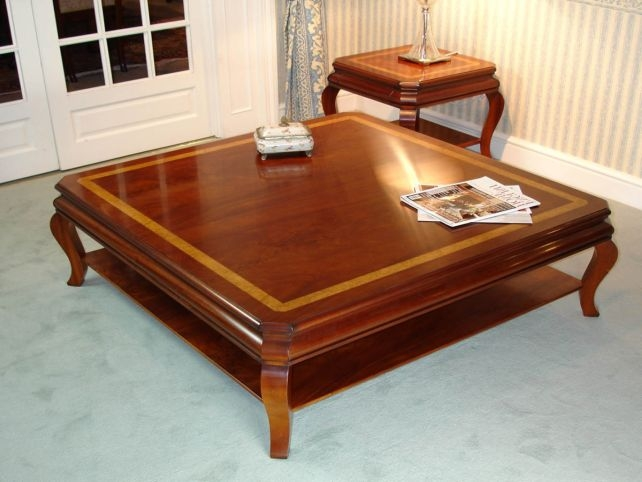 Impressive Widely Used Square Large Coffee Tables Regarding Photo Of Large Wood Coffee Table With Coffee Table Large Square (Image 25 of 50)