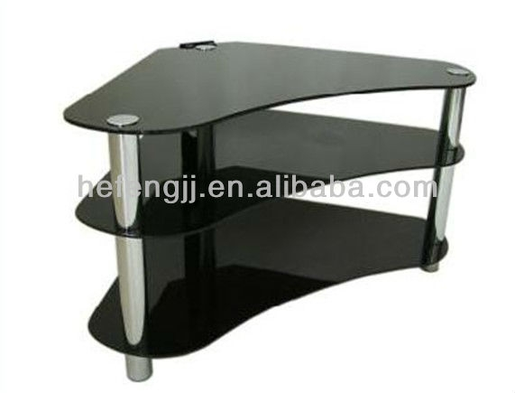 Impressive Widely Used Triangle TV Stands With Tempered Glass Triangle Tv Stand Buy Tempered Glass Triangle Tv (Image 29 of 50)