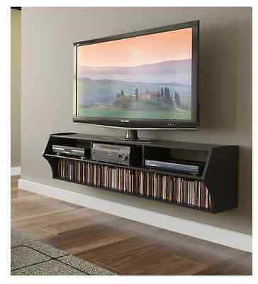 Impressive Widely Used Wall Mounted TV Stands With Shelves With Wall Mount Tv Stand Floating Media Console Flat Screen Shelves Dvd (Image 36 of 50)