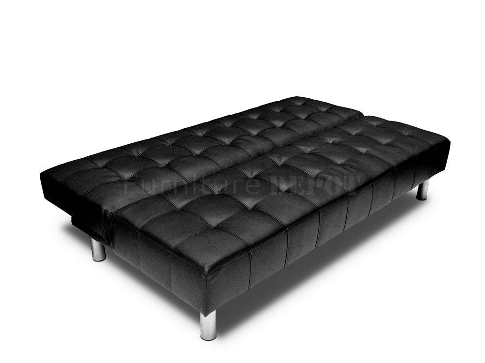 Incredible Black Leather Sleeper Sofa Catchy Home Design Plans For Black Leather Convertible Sofas (Image 13 of 20)