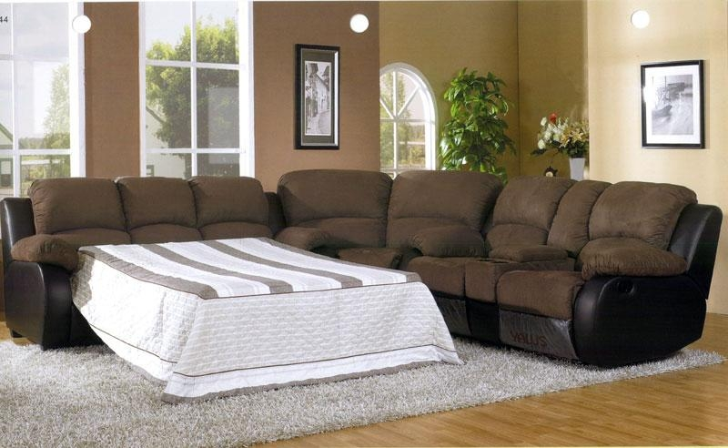 Incredible Microfiber Sectional Sleeper Sofa Sleeper Sofa With With Microsuede Sleeper Sofas (Image 4 of 20)