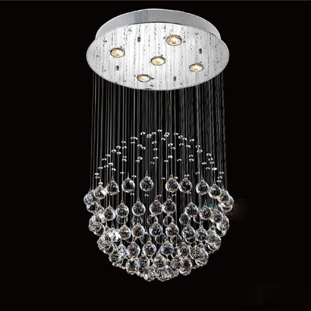 Incredible Round Modern Chandelier Modern Chandeliers With 4 Within 4 Light Crystal Chandeliers (Image 11 of 25)