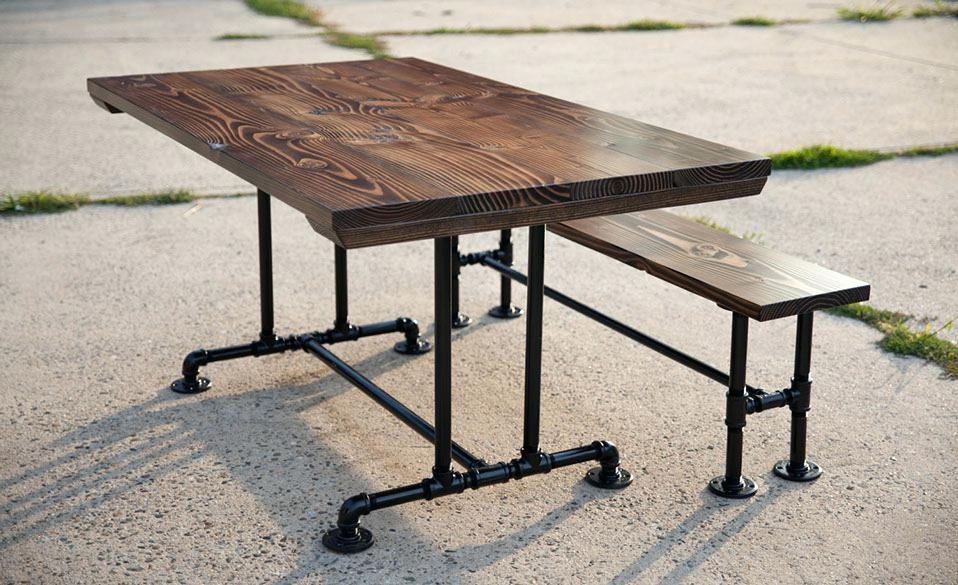 Industrial Dining Table Set – Kiurtjohnson (Image 13 of 20)