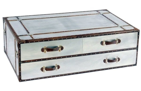 Innovative Best Aluminium Coffee Tables With Regard To Homestead Living Industrial Aluminium Coffee Table Wayfaircouk (Image 31 of 50)