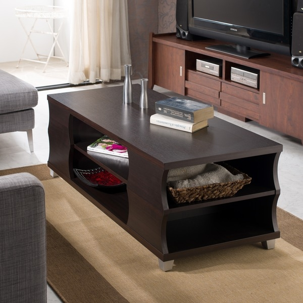 Innovative Best Espresso Coffee Tables Throughout Est Rattan Coffee Table Rattan Round Coffee Table Furniture (View 49 of 50)
