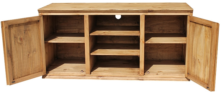 Innovative Best Pine TV Stands With Regard To Rustic Pine Collection Tecate Tv Stand Com (Image 30 of 50)