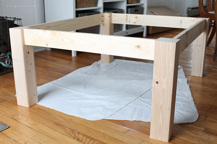Innovative Best Rustic Wood DIY Coffee Tables In Diy Farmhouse Coffee Table Love Grows Wild (Image 29 of 50)