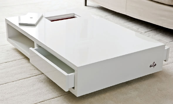 Innovative Best White Coffee Tables With Baskets Intended For Modern White Coffee Table Table And Estate (Image 25 of 40)