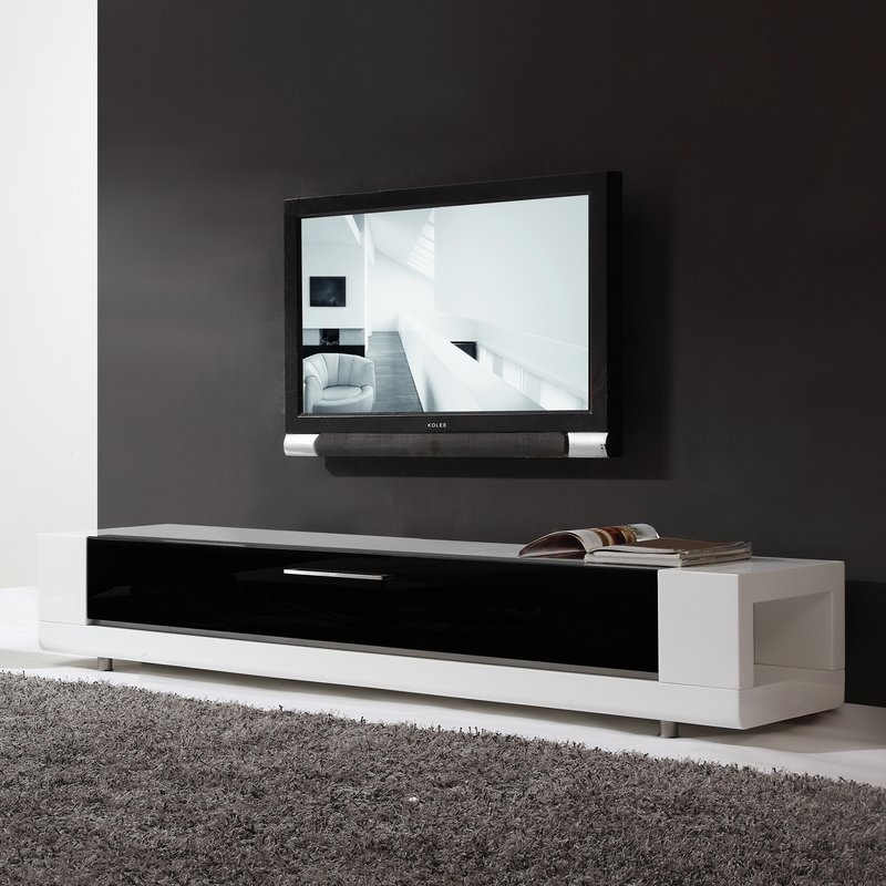 Innovative Best White Gloss Corner TV Stands Within Modern Tv Stands Entertainment Centers Allmodern (Image 26 of 50)