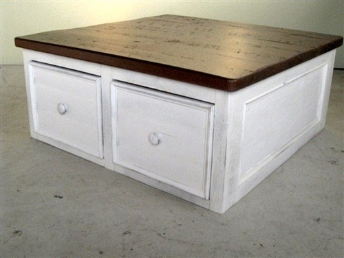 Innovative Best White Square Coffee Table With Regard To Spectacular Square Coffee Table Drawers With Home Designing (Image 23 of 50)