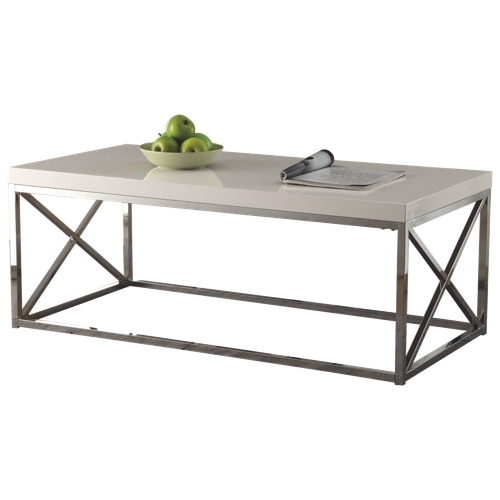 Innovative Brand New Chrome Coffee Tables With Accent Table Glossy Whitechrome Coffee Tables Best Buy Canada (Image 28 of 50)