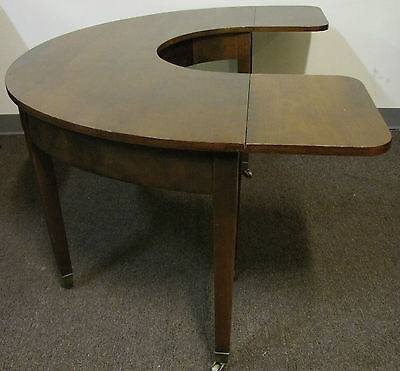 Innovative Brand New Half Circle Coffee Tables Throughout Beacon Hill Chinese Desk Drop Leaf Coffee Table Half Round (View 3 of 40)