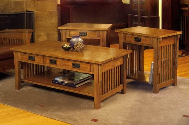 Innovative Brand New Oak Coffee Table Sets Throughout Mission Solid Oak 3 Piece Coffee And End Table Set Free Shipping (Image 34 of 50)