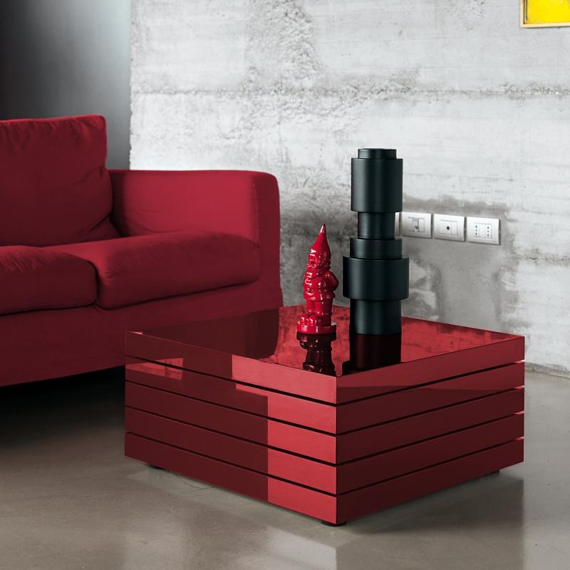 Innovative Brand New Red Gloss Coffee Tables For Kristalia Rotor Lacquer Coffee Table 25rot013003 Ll2 Reuter Shop (Image 24 of 40)