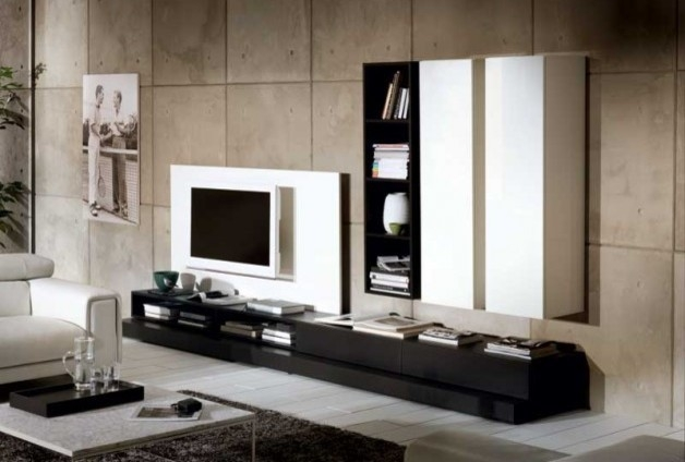 Innovative Brand New TV Stand Wall Units For Novecento Tv Stand And Wall Unit Natuzzi Italia (Image 32 of 50)