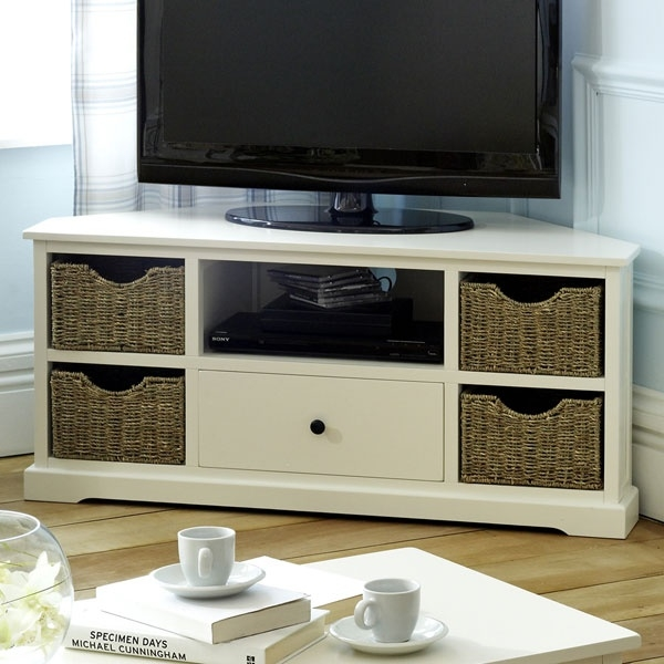 Innovative Brand New TV Stands With Storage Baskets Within Best 25 Corner Tv Unit Ideas On Pinterest Corner Tv Tv In (Image 23 of 50)