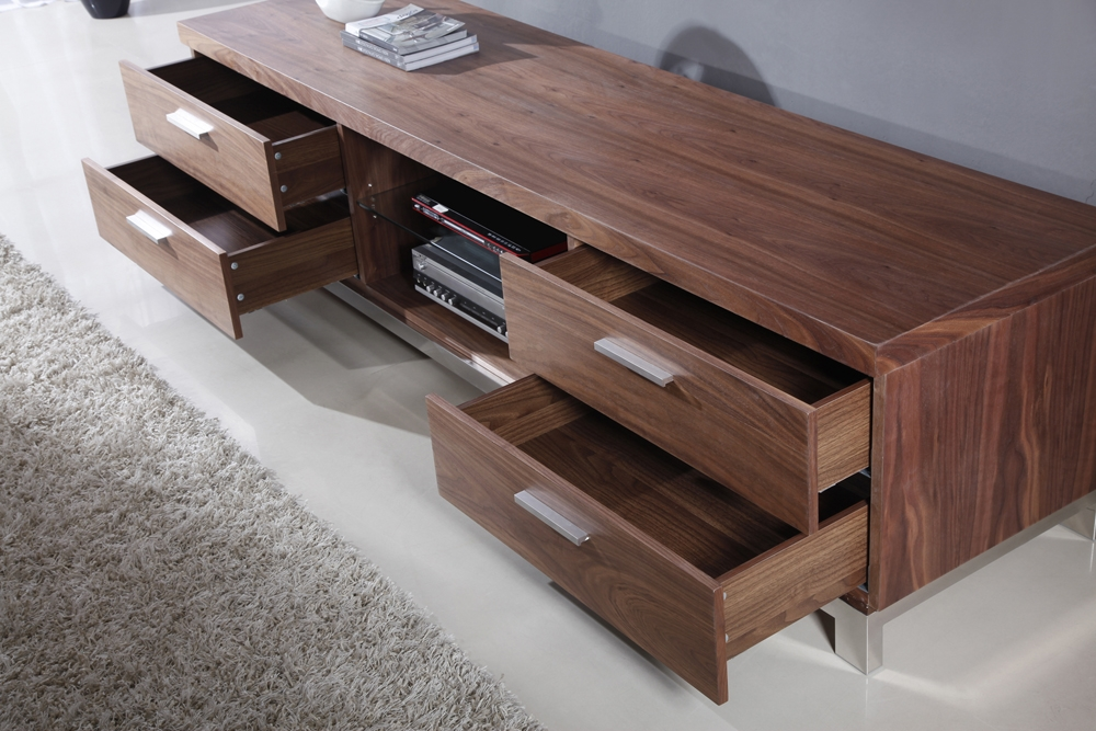 Innovative Brand New Walnut TV Stands Throughout B Modern Promoter Tv Stand Light Walnut B Modern Modern Manhattan (View 29 of 50)