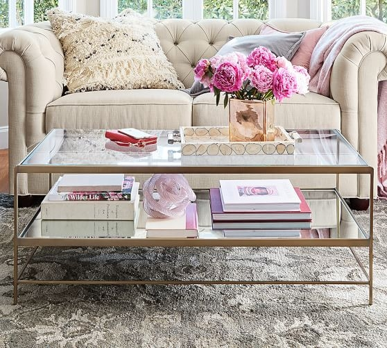 Innovative Common Antique Glass Pottery Barn Coffee Tables In Leona Coffee Table Pottery Barn (Image 29 of 50)
