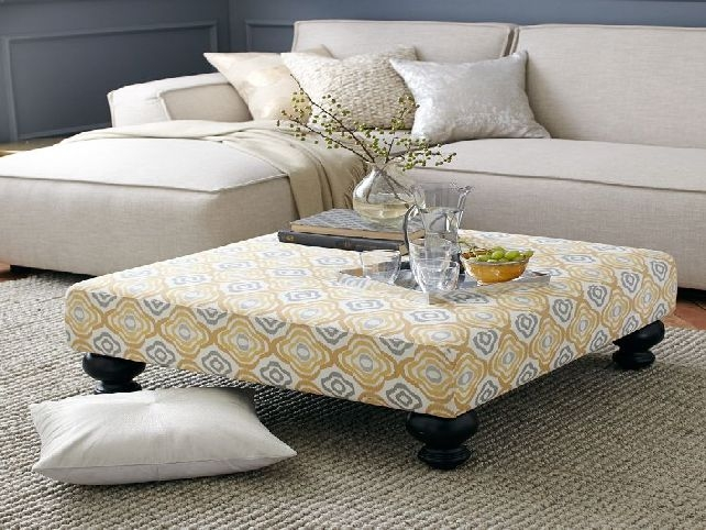 Innovative Common Fabric Coffee Tables Inside Fabric Ottoman Coffee Table House Designs (View 44 of 50)