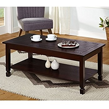 Innovative Common Low Rectangular Coffee Tables For Amazon Simple Living Ethan Cocktail Stationary Lower Shelf (View 34 of 50)
