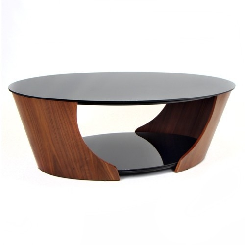 Innovative Common Oval Walnut Coffee Tables Throughout Modern Oval Coffee Table (Image 31 of 50)