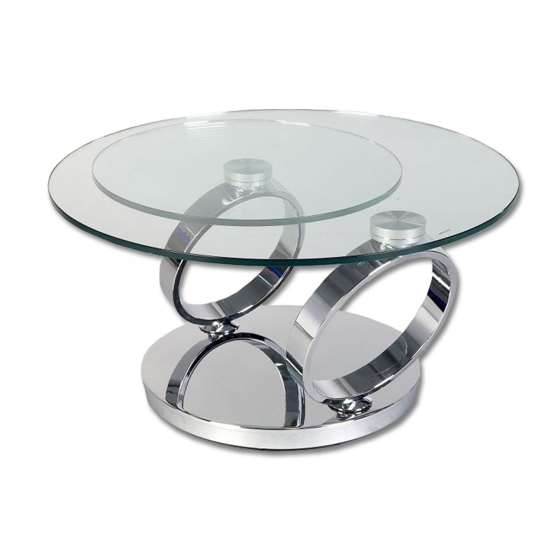 Innovative Common Revolving Glass Coffee Tables In 15 Versatile And Gorgeous Round Glass Coffee Table Ideas (Image 25 of 40)