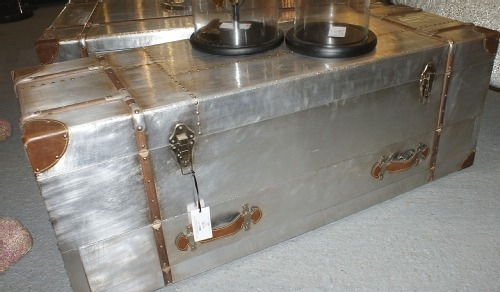 Innovative Common Silver Trunk Coffee Tables Pertaining To Silver Trunk Coffee Table Idi Design (View 4 of 40)