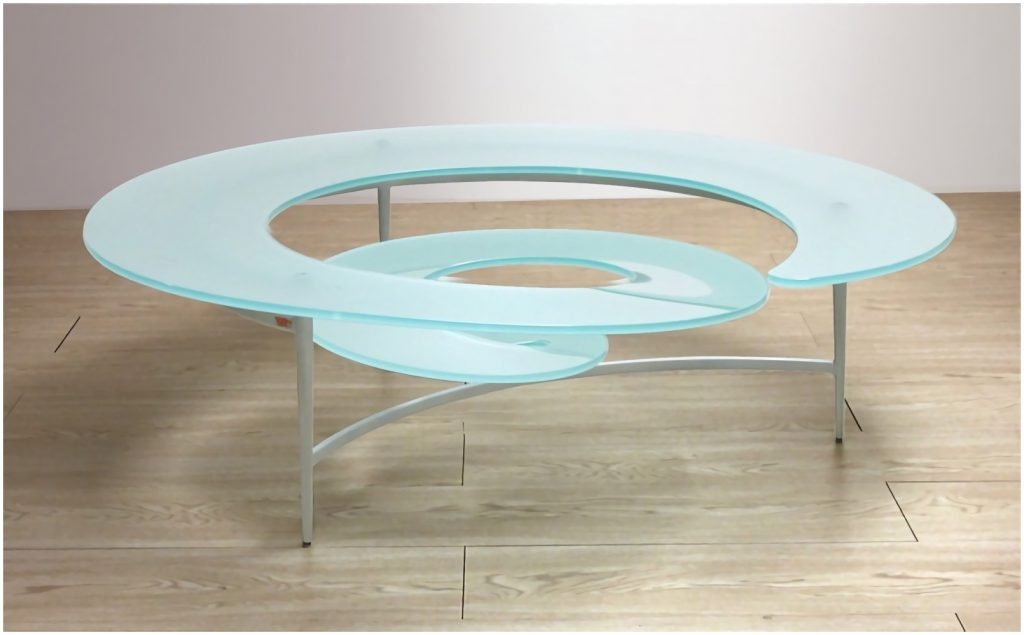 Innovative Common Spiral Glass Coffee Table Inside Spiral Glass Coffee Table Cocinacentralco (View 2 of 50)