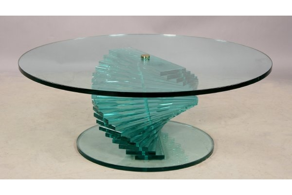 Innovative Common Spiral Glass Coffee Table Throughout Glass Coffee Tables Amusing Spiral Glass Coffee Table Design (Image 33 of 50)