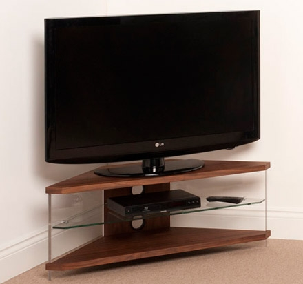 Innovative Common Techlink Air TV Stands Pertaining To Techlink Air Ai110wc Corner Tv Stand Up To 46 In Walnut Veneer (Image 31 of 50)