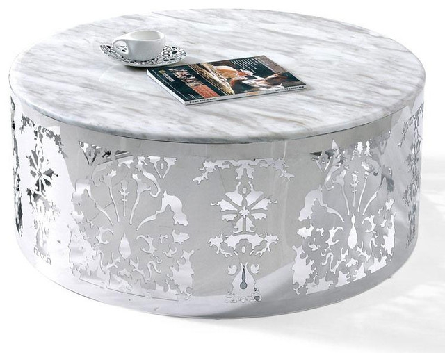 Innovative Common White And Chrome Coffee Tables With Modern White Round Coffee Table Table And Estate (Image 34 of 50)