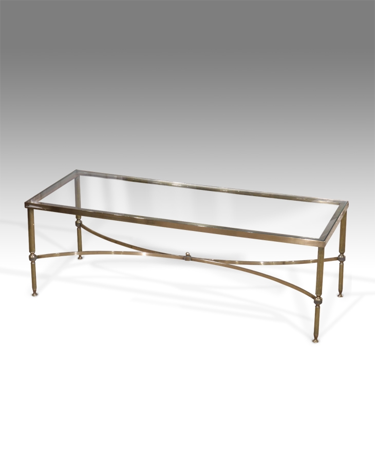Innovative Deluxe Antique Brass Glass Coffee Tables Pertaining To Vintage Brass Lucite And Glass Coffee Table At 1stdibs Antique (Image 30 of 50)
