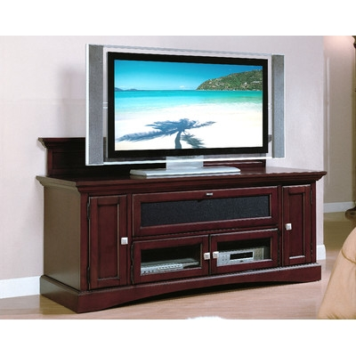 Innovative Deluxe Cherry Wood TV Stands Inside Stand Entertainment Furniture Gallery (Image 30 of 50)