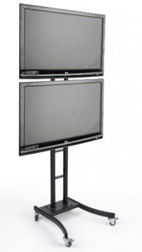 Innovative Deluxe Dual TV Stands Inside Floor Stand For Flat Screen Tv Foter (Image 28 of 50)