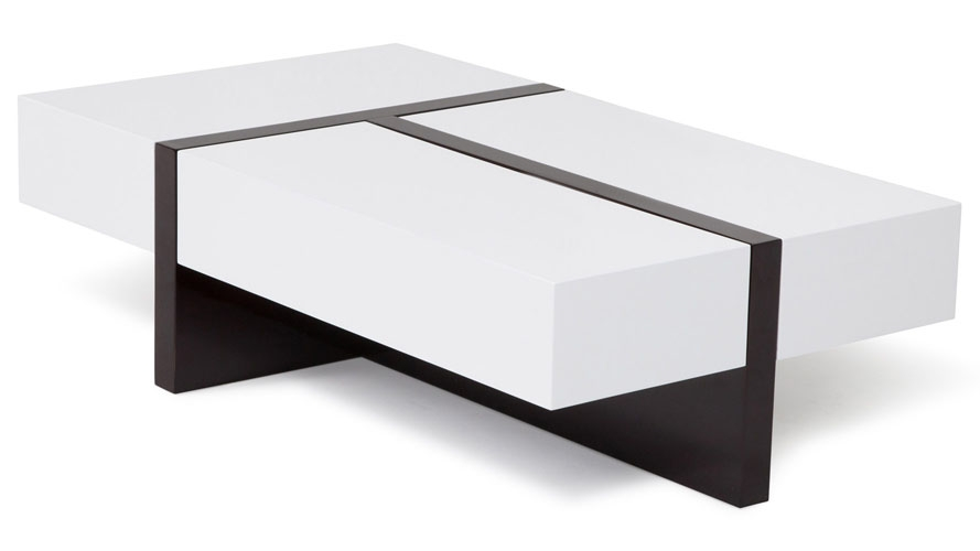 Innovative Deluxe Gloss Coffee Tables For Mcintosh High Gloss Coffee Table With Storage White Rectangle (Image 34 of 50)