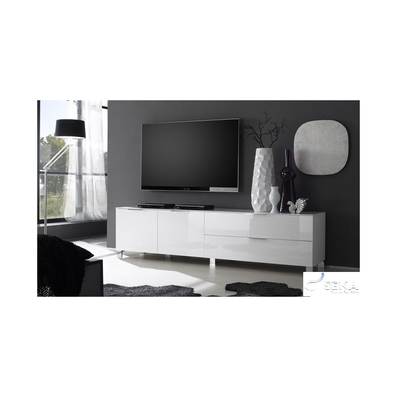Innovative Deluxe High Gloss TV Cabinets For Song Black Gloss Tv Unit With Led Lights Tv Stands Sena Home (View 49 of 50)