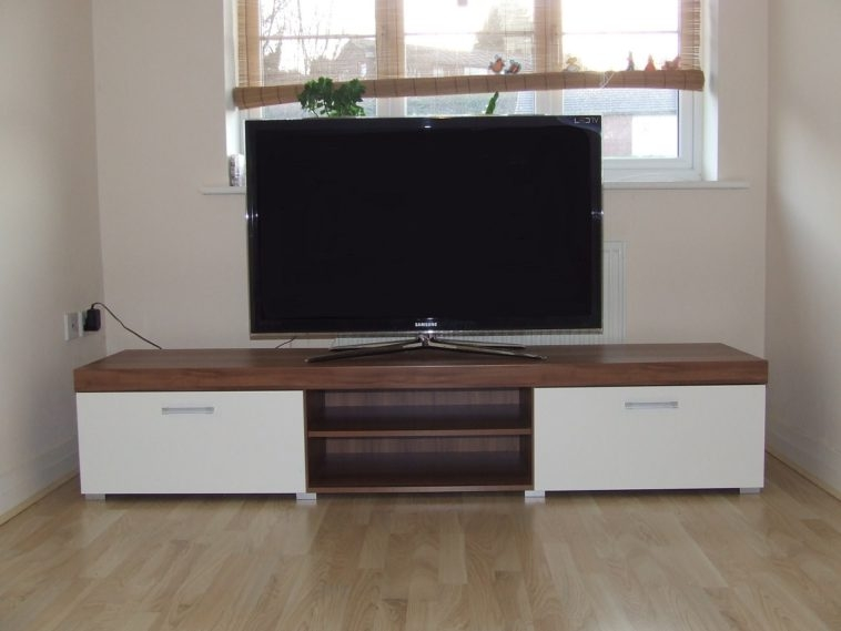 Innovative Deluxe Led TV Cabinets In Furniture White Brown Wooden Television Cabinets With Doors And (Image 29 of 50)