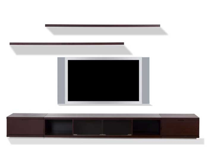 Innovative Deluxe Low Long TV Stands Pertaining To Buy Conti Plasma Tv Wall Unit In Wenge Online Confidently (View 8 of 50)