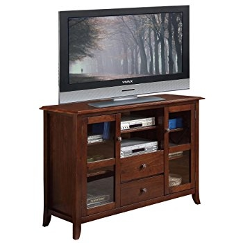 Innovative Deluxe Mahogany TV Stands  With Regard To Amazon Simpli Home Devon Tall Tv Media Stand For Tvs Up To  (Image 36 of 50)