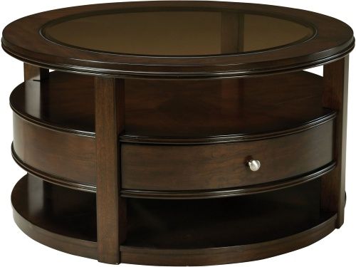Innovative Deluxe Round Coffee Tables With Drawers Throughout Coffee Table Round Coffee Table With Storage Crate And Barrel (Image 30 of 50)