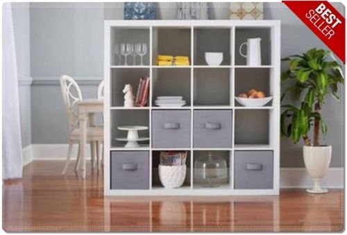 Innovative Deluxe TV Stands And Bookshelf Within White 16 Cube Wood Organizer Modern Shelf Bookcase Bookshelf (View 30 of 50)