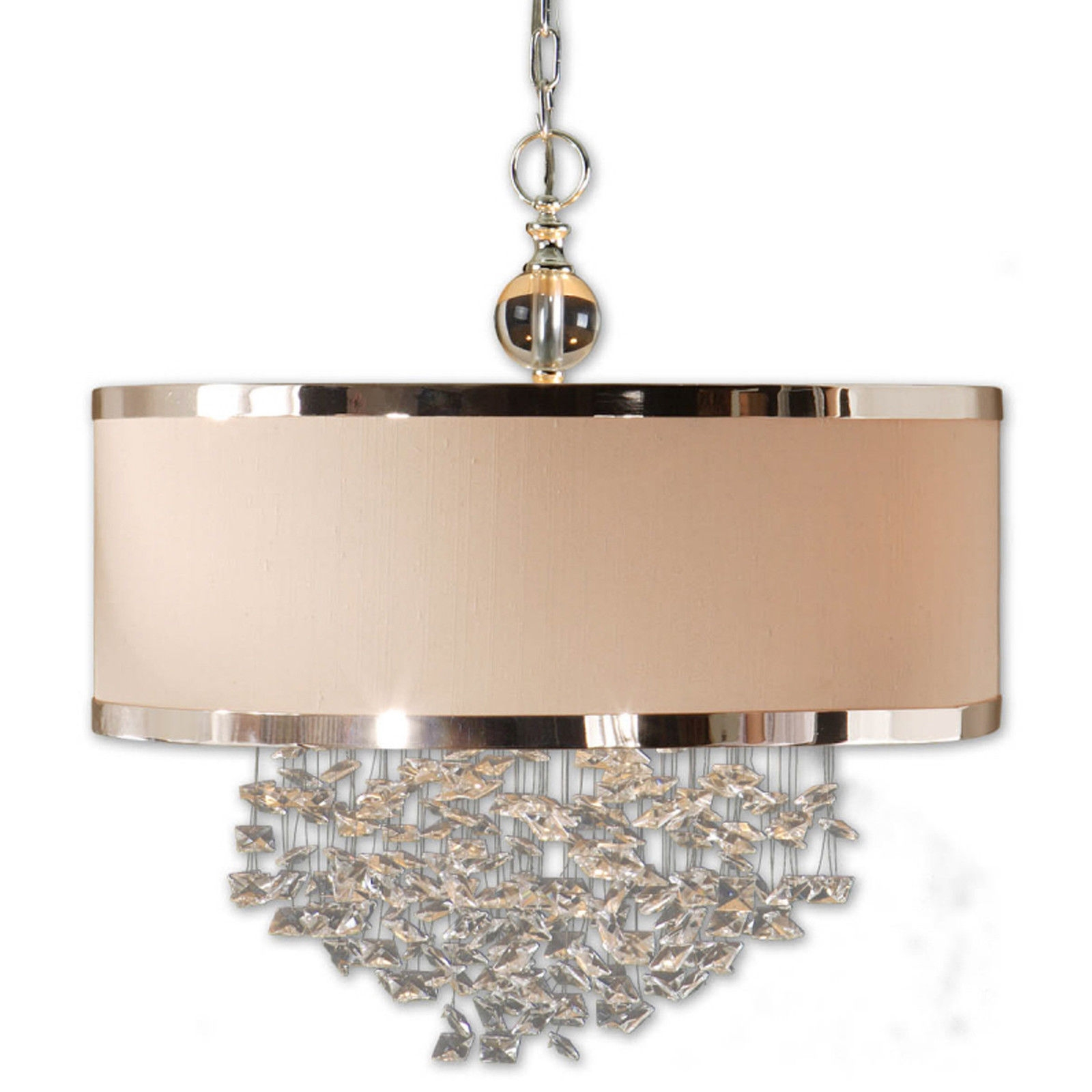 Innovative Drum Shade Chandeliers Best Home Decor Inspirations With Chandelier With Shades And Crystals (Image 19 of 25)