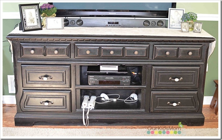 Innovative Elite Black TV Stands With Drawers Throughout Diy Repurposing A Dresser Into A Television Stand (Image 32 of 50)