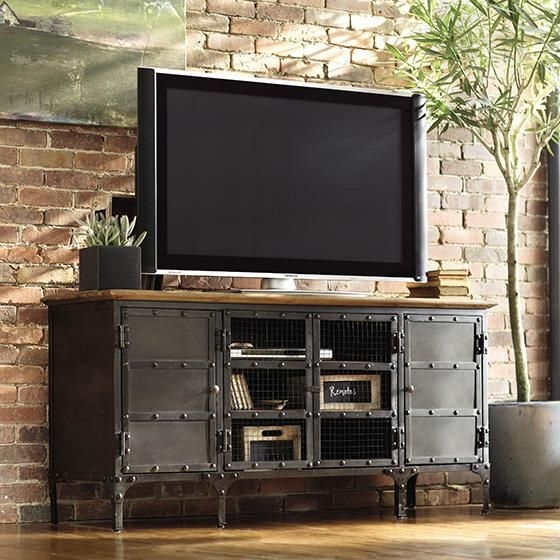 Innovative Elite Cheap Tall TV Stands For Flat Screens Pertaining To Best 25 Metal Tv Stand Ideas On Pinterest Industrial Tv Stand (View 44 of 50)